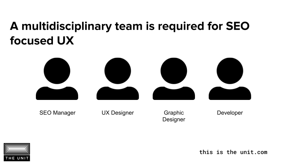 user experience team for SEO